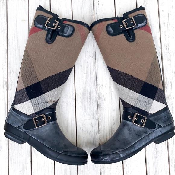 Burberry Shoes - VINTAGE BURBERRY 'BIRKBACK' RAIN BOOT